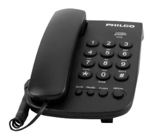 Teléfono Sobremesa Blanco Y Negro - Negro