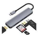 Hub Adaptador Usb-c 5 En 1 (hdmi,2x Usb 3.0, Tf, Sd) Macbook