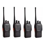 Pack 4 Radio Transmisor Walkie Talkie Baofeng Bf888s