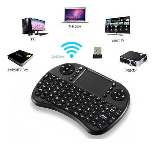 Mini Teclado Inalámbrico Touchpad Qwerty Smart Tv Box Laptop