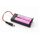 Portapilas X 2 18650  Con Tapa, Plug Y Switch