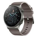 Huawei Watch Gt 2 Pro Classic 1.39  Caja 46.7mm De  Titanio  Nebula Gray Malla  Gray Brown De  Cuero Vid-b19
