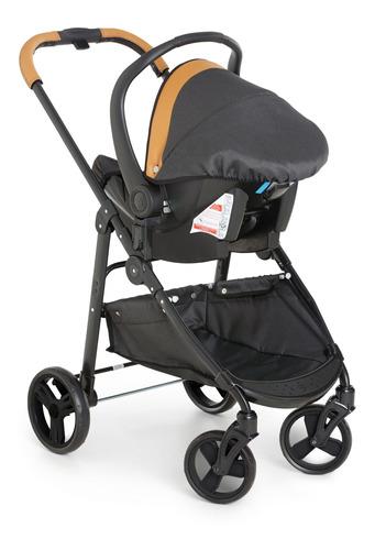 Carrinho De Bebê Olypus Pretege Com Bebê Conforto + Base