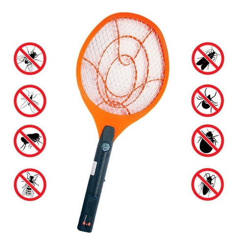 Matamoscas  Recargable Raqueta Insectos 10-8010 Electrico