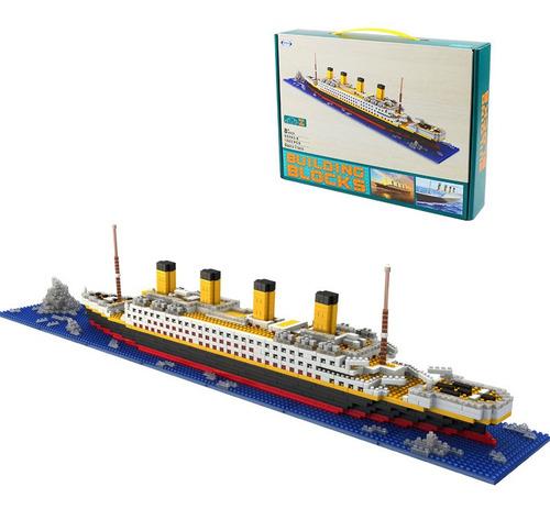Kit De Bloques De Construcción Para Armar Titanic, 1860 Pzs