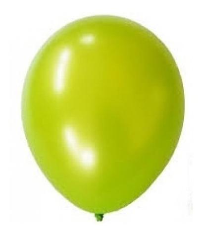 Globos Perlados Verde Manzana 12 Pulgadas X 50 U Decoración