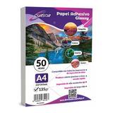 Papel Fotografico A4 135g Glossy Pack 100 Adhesivo