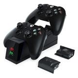 Cargador De Controles Para Xbox Con 2 Baterías Recargables
