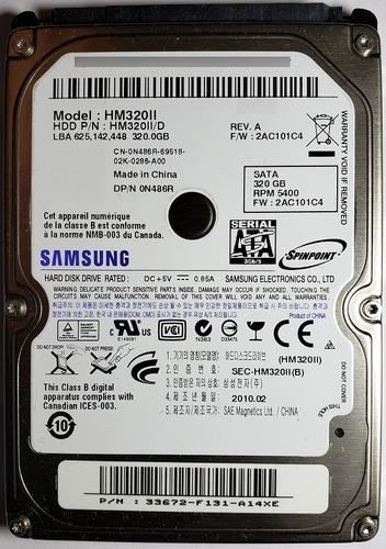 Disco Duro Sata 2.5 320 Gb Samsung Hm320ii