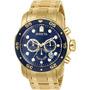 Relógio Invicta Pro Diver 0073 Ouro 18 K  Garantia. Original