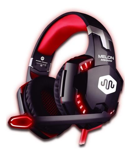 Auricular Gamer Melon Pc Ps4 Con Microfono Ajustable M5000