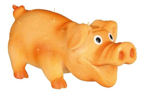 Chancho Cerdo Con Pelo Latex Con Sonido 10cm Trixie