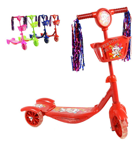 Monopatin Tripatin Scooter Infantil Musical Con Luces St