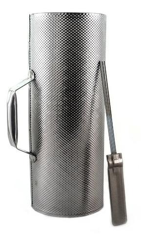 Guiro Grande Metal Con Raspador Cumbia Vg 33 X 12,5cm - Full