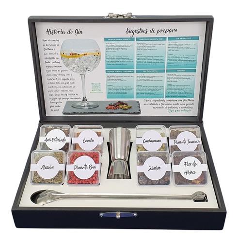 Kit 08 Especiarias Gin Tônica + Dosador Duplo Inox