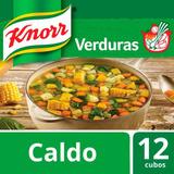 Knorr Caldo De Verduras Desidratado 12 Cubos Con 10 Verduras