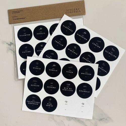 Stickers Etiquetas Circulares Para Frascos