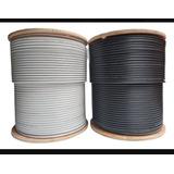 Cable Coaxial Rg6 Blanco Y Negro Cada Rollo De 305 Mts