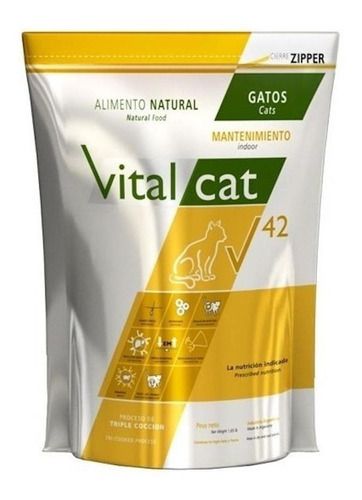 Alimento Vitalcat V 42 Indoor Para Gato Adulto En Bolsa De 7.5kg