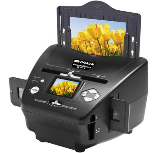 Escaner Braun 3 En 1 P/ Fotos, Diapositivas Y Negativos *