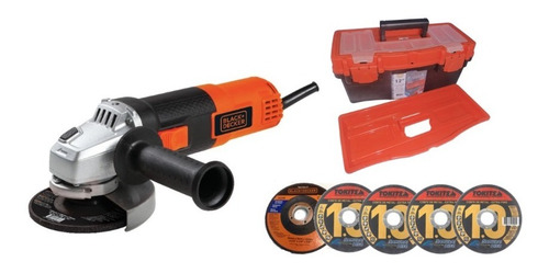 Amoladora Angular Black & Decker 115mm G720 +5 Discos+caja