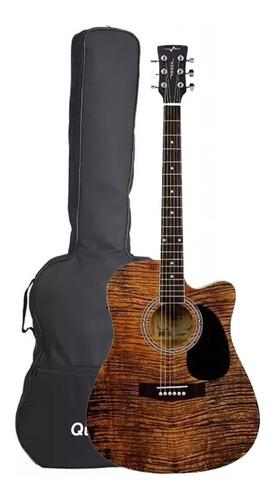 Violão Elétrico Corda Em Aço Vogga Folk Cutaway Vck370 Mf