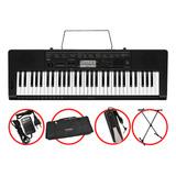 Kit Teclado Casio Ctk3500 Musical 5/8 Completo Com Pedal