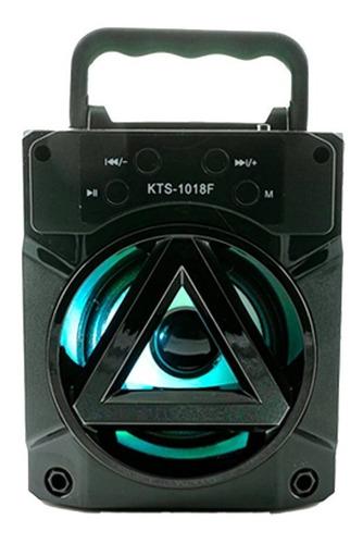 Parlante Bluetooth Inalámbrico Potente Con Luces Kts-1018f