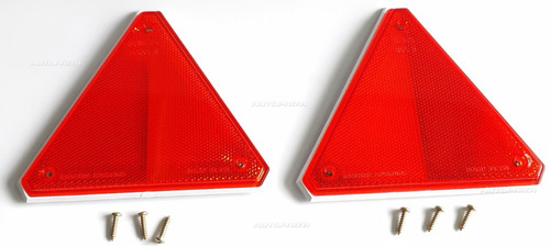 Ojos De Gato Triangulo Reflectivo Rojo Baiml, X 2 Unidades