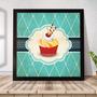 Quadro Decorativo A3 45x35 Com Moldura Gourmet Cupcakes Bq01 Original