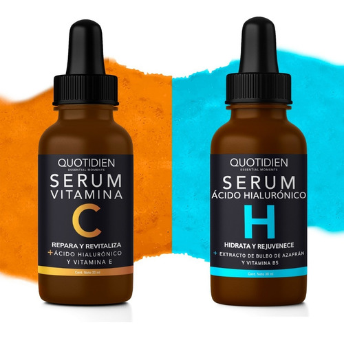 1 Serum Vitamina C Quotidien + 1 Serum Ah Quotidien - Combo