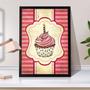 Quadro Decorativo A3 45x35 Caixa Gourmet Sweet Cupcakes Br07 Original