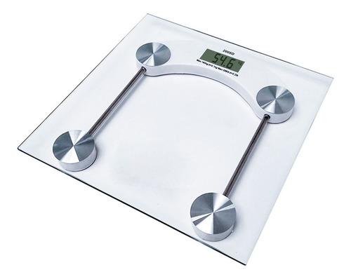 Balanza De Baño Vidrio Y Acero Lcd Digital 150kg Cuadrada