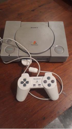 Playstation 1 Original Con Un Control Funcionando Con Juegos