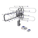 Antena Tv Digital Hd Giratoria Para Exterior Uhf Control