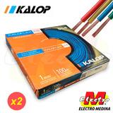 Cable Unipolar Kalop 1mm Cat 5 Envi X 2 Rollo Electro Medina