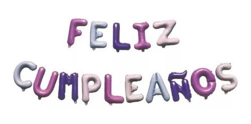 15 Globos Letras Feliz Cumpleaños Gold Rose O Plateado