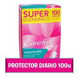 Protectores Diarios Carefree® Todos Los Dias X 100 Un.