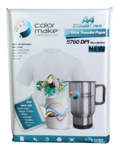 Papel Sublimación Sublimar A4 Color Make Light 90 G 100 Hoja