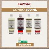 Kit Nutrientes Kawsay Veg Flora 500ml Hidroponia Sustrato