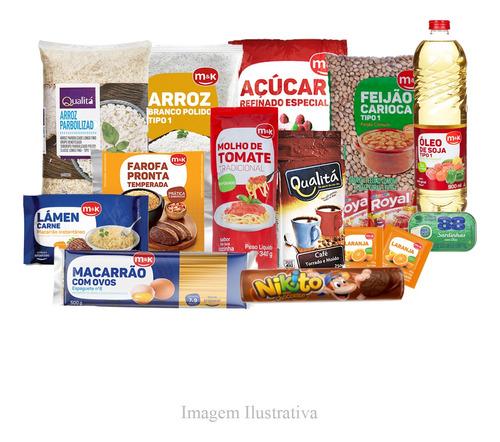 Cesta Básica Completa - Alimentos Cruciais - 16 Itens