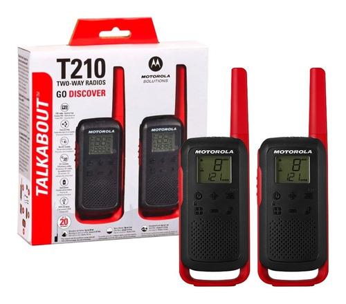 Talkabout Rádio Comunicador Motorola T210 Alcance Até 32km
