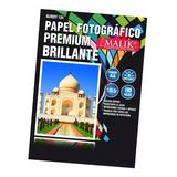 Papel Fotografico Glossy Brillante A4 De 130gr / 100 Hojas