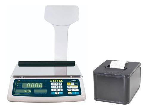 Balanza Systel Croma 31k Bateria Con Impresora Ticket 57mm