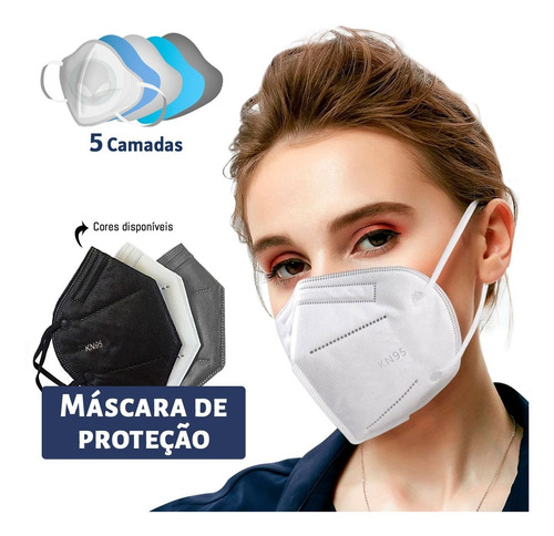 Máscaras Kn95 Proteção 5 Camadas Descartável Pff2 N95