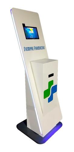Totem Gabinete Turnero Digital Touch Con Tablet E Impresora