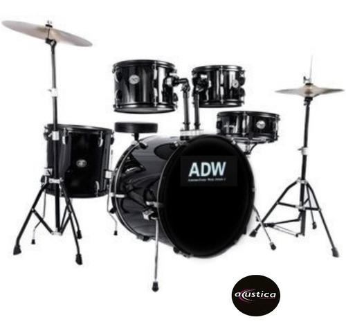 Bateria Adw 5 Piezas (american Drum Works) Dset-90l - Bk