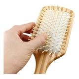 Cepillo De Bambú Plano Para Cabello -cerdas En Bambú- Peine