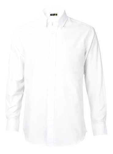 Camisa Oxford Premium Manga Larga Blanca Upf 20