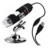 Mini Microscopio Digital Usb  Luz Led Zoom 1600x